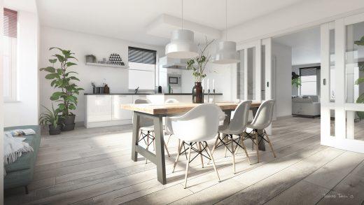 Keuken met beschikbare opties