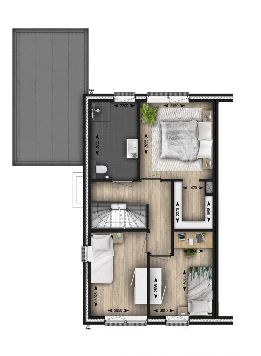 1e verdieping (basis)